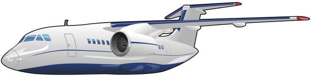 Passagerarflygplan Arkivbild