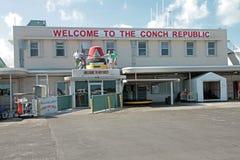 Passagerarterminalen på den Key West flygplatsen Arkivbilder