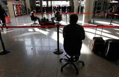 Passagers échoués par aéroport 046 Images stock