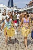 Passagers après que la farine et l'oeuf combattent. Photos libres de droits