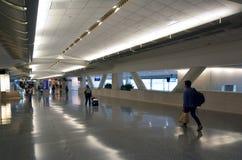 Passagers chez San Francisco International Airport Photographie stock