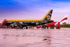 Passagers débarquant Air Asia Image libre de droits