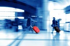 Passagers d'aéroport de Changhaï Pudong Image libre de droits