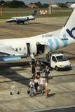 Passagers d'air Photos libres de droits