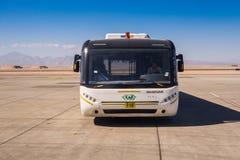 Passagers de attente d'autobus Image libre de droits