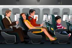 Passagers de ligne aérienne Photo libre de droits