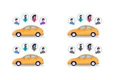 Passagers de voiture de complétude d'illustration de vecteur illustration libre de droits