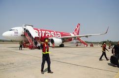 Passagers et personnes de voyageurs de Don Mueang International Airport Photographie stock libre de droits