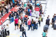 Passagers at Santos Dumont Airport in Rio de Janeiro, Brazil Royalty Free Stock Photo