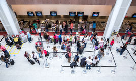 Passagers at Santos Dumont Airport in Rio de Janeiro, Brazil.  Stock Image