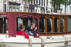 Passagers sur un bateau Photos libres de droits