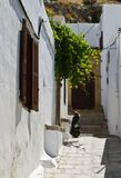 Passages of Lindos Stock Image