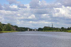 Passages sur le canal de Moscou Photos stock