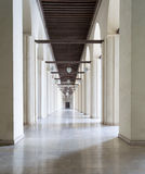 Passages surrounding the inner court of a historic mosque, Cairo Stock Photo