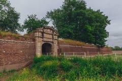 Passagetunnel op citadelmuur van de Citadel van Lille, Frankrijk royalty-vrije stock afbeeldingen