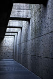 Passageway. With metal grids and rays of light coming from above Stock Photography