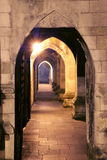 Passageway. Image of passageway, Winchester Cathedral Royalty Free Stock Image