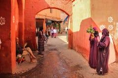 passageway Abbes do bel do sidi de Zaouia marrakesh marrocos imagens de stock royalty free