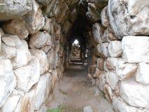 Passageway Through Ancient Wall Royalty Free Stock Photos
