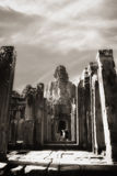 Passageway at Bayon temple Stock Photos