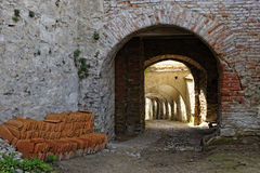Passageway in Biertan Fortified Church, Romania Royalty Free Stock Images