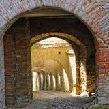 Passageway in Biertan Village, Romania Royalty Free Stock Image