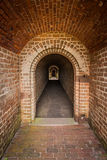 Passageway of Brick Stock Image