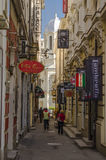 Street in the Bucharest old historical center Stock Image