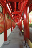 Passageway at the Buddha Tooth Relic Temple. The Buddha Tooth Relic Temple and Museum situated in Chinatown, Singapore.  The Temple is dedicated to Maitreya Stock Image