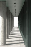 Passageway with columns Royalty Free Stock Photography