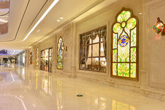 Passageway of commercial building Stock Photo