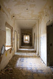 Passageway with debris. View of a passageway with debris in an abandoned building Royalty Free Stock Image