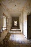 Passageway with debris Royalty Free Stock Image