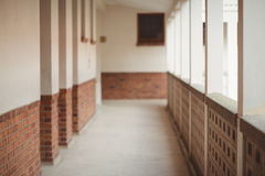 Passageway at an elementary school Royalty Free Stock Photos