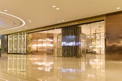 Passageway and lighting shop in commercial building Stock Photos