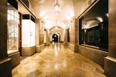 A passageway at night, near Odeonsplatz, in Munich, Germany. Stock Images