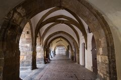 Passageway at the Old Town in Prague. Old and empty passageway at the Old Town in Prague, Czech Republic Royalty Free Stock Images