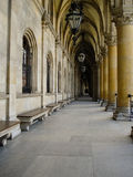 Passageway at the Rathaus in Vienna Stock Photos