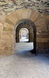 A passageway with round arches Royalty Free Stock Photos