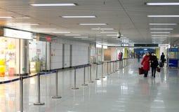 Passageway in subway royalty free stock photo