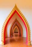 Passageway in the temple, Kanchanaburi. Thailand Royalty Free Stock Image