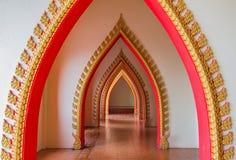 Passageway in the temple, Kanchanaburi Stock Photo