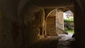 Passageway in Transylvania village, Romania Royalty Free Stock Photos