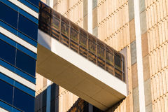 Passageway between two skyscrapers, Atlanta, USA Stock Images