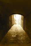 Passageway under an ancient vault Royalty Free Stock Images