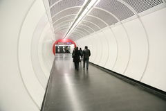 Passageway in underground station Royalty Free Stock Photography