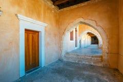 Arkadi Monastery, Arkadi, Crete, Greece. Passageway in the West Gate at the Arkadi Monastery, Arkadi, Crete, Greece Royalty Free Stock Photography