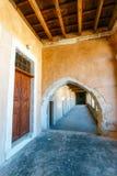 Arkadi Monastery, Arkadi, Crete, Greece. Passageway in the West Gate at the Arkadi Monastery, Arkadi, Crete, Greece Stock Image