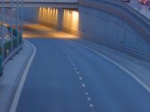 Passaggio alla gara motociclistica su pista in Kielce Immagini Stock Libere da Diritti