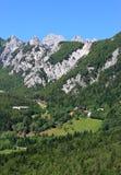 passaggio alpino, Ljubelj, Slovenia Fotografie Stock
